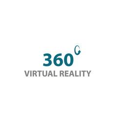 360 virtual reality logo design template vector image