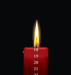 Advent candle red 18 vector image