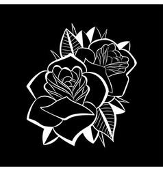 Beatiful flower black black vector image