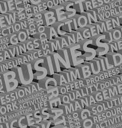 Business words typography vector image