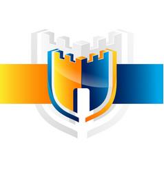 security guard logo design security vector image vector image