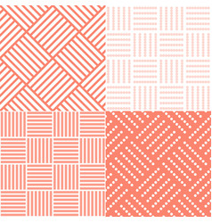 set of square tile seamless pattern vector image vector image