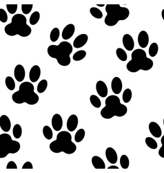 Animal Paw Seamless Pattern Background vector image