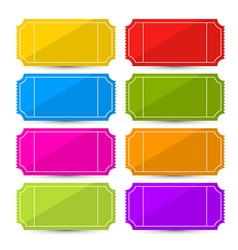 Colorful Ticket Set vector image vector image