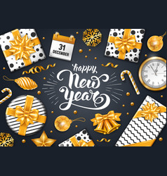 festive new year greeting card vector image vector image