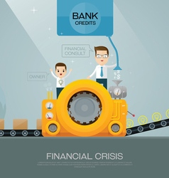 financial advisor and bank vector image