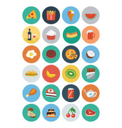 Food Flat Icons 2 vector image