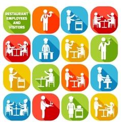 Restaurant employees white vector image vector image