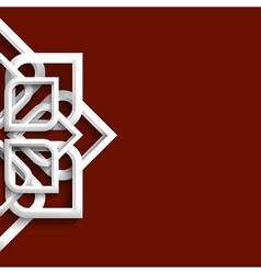 Arabic 3d white ornament vector