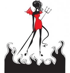 Devil fire vector