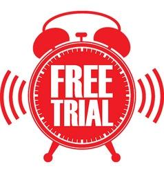 Free trial red alarm clock vector image