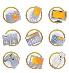 hi-tech equipment vector image vector image