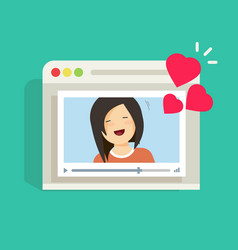 online remote dating concept video communication vector image vector image