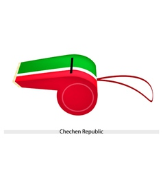 Red and Green Stripe on Chechen Republic Whistle vector image vector image