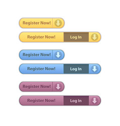register now modern minimal button collection vector image vector image