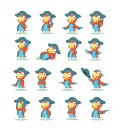 set parrot vector image