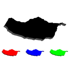 3d map of madeira vector image