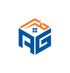 Ag home abstract polygonal letter logo vector