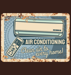 Air conditioning rusty plate conditioner vector