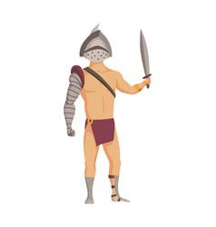 ancient rome gladiator roman warrior vector image