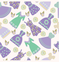 background with various womens clothing fashion vector image