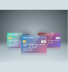 bank card - realistic business infographic vector image