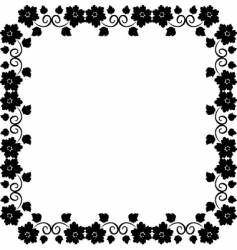 beauty frame vector image