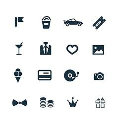 Birthday icons set vector
