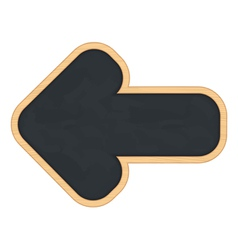 Blackboard shaped as arrow vector image