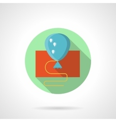 Blue flat style balloon icon vector image