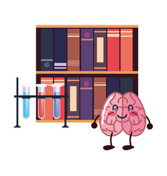 brain cartoon education vector image