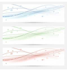 Business cards banners lines collection vector