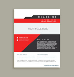 Business magazine poster template vector