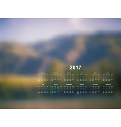 calendar monthly 2017 vector image