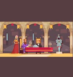 castle people composition vector image
