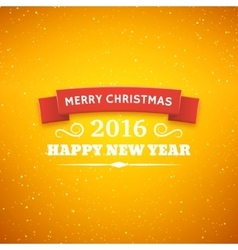 Christmas typography background vector image