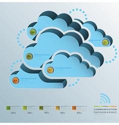 Cloud Shape Communication Business Infographic vector