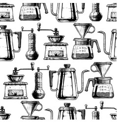 Coffeemaker seamless pattern vector
