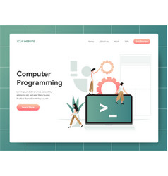 computer programming concept modern design vector image