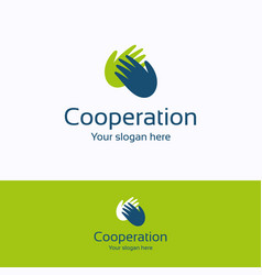 Cooperation logo vector