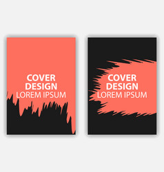 cover design poster in grunge style brochure vector image