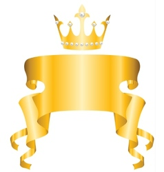crown and ribbon vector image
