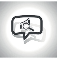 Curved graphic examination message icon vector