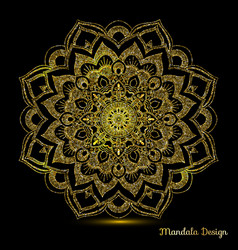 decorative arabic round lace decor mandala vector image