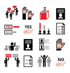 democracy voting for political party or new presi vector image