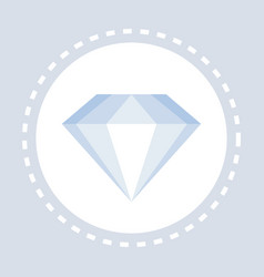 diamond icon luxury royal stone concept flat vector image
