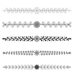 Dividers tribal floral elements vector