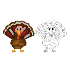Doodle animal for wild turkey vector