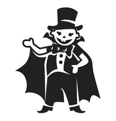 Dracula kid costume icon simple style vector