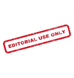 Editorial Use Only Text Rubber Stamp vector